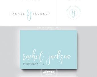 siganture logo branding 2 initials businesscards  simple modern feminine branding- logo Identity for artist makeup and wedding photographer