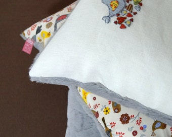 3 pillow set bird cross stitch 40 x 40 cm