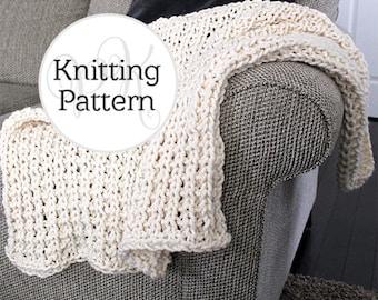 Knitting Pattern Beltway Blanket Instant Download