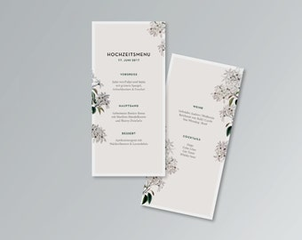 Menu card for weddings | PDF