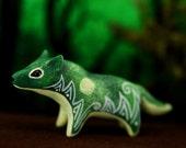 Forest Wolf Sculpture Figurine Art Fantasy Animals Wolves Guargian Spirit Amulet
