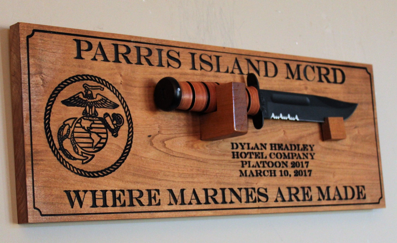 Usmc Bootcamp Graduation Gift Personalized Ka Bar Marine