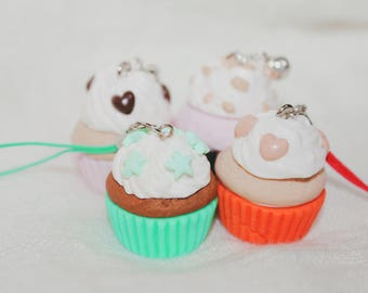 Cupcake Keychain with polymer clay!