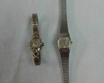 Vintage Caravelle watch lot repair parts repurpose