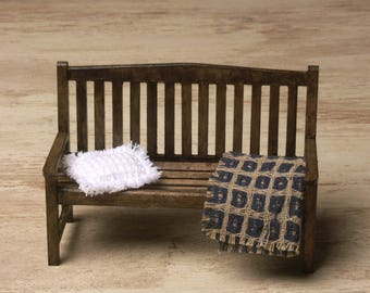 Miniature Garden Bench for Your Dollhouse