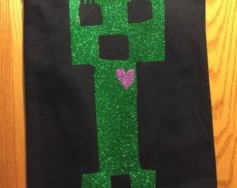 CREEPER T-Shirt - GREEN SPARKLE Vinyl