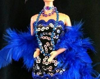 Jazz baby Flapper roaring 20's - OOAK Barbie doll
