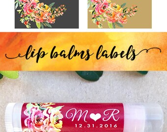 Personalized Lip Balm Labels 30ct - Bridal Shower Lip Balm Labels - Party Favors Chapstick Label - Wedding Chapstick Label ONLY (CL2010)