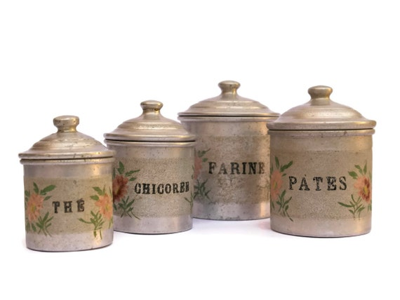 french kitchen canisters shabby kitchen canister set vintage aluminum 11800