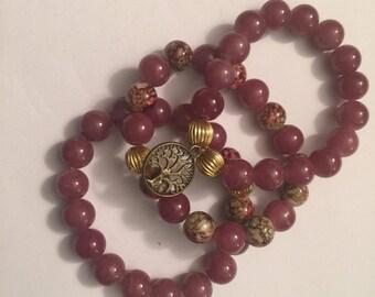 Garnet Glass Bead
