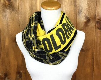 University of Colorado Boulder Upcycled Infinity T-Shirt Scarf
