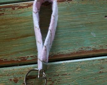 Pretty in Pink Key Fob // Key Fob // Key Chain / Gifts for Her / Key Wristlet / Pink Chevron