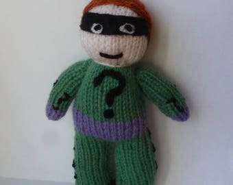 The Riddler (Batman) knitted doll
