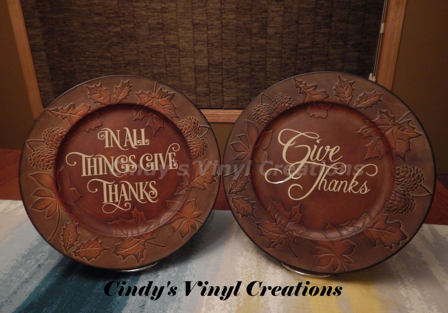 Thanksgiving Charger Plate High Quality Leaves