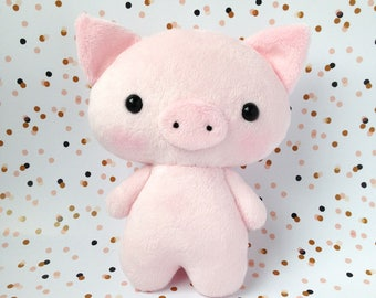 plush pig toy - Stuffed pig - Piggy toy - Piglet toy  - pig softie - Kawaii pig - pig plushie - gift for kids