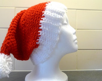Santa hat, Father christmas hat, grumpy santa hat, xmas party hat, christmas day outfit, hen night hat, pompom hat, stocking filler
