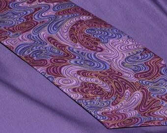 Men's tie, Men's necktie, Men's purple tie, Men's purple necktie, 'Frosted Swirls'