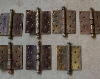 Vintage hardware hinges, door hinges, architectural salvage, reclaimed, repurposed