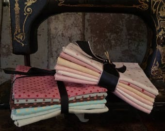 Fabric: Bundle FQ 6pc - Polka Dots Series