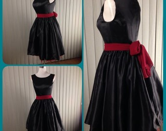 Black bridesmaid dress, audrey hepburn dress, little black dress, Christmas party dress