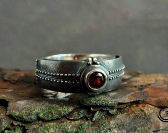 "Sterling Silver Statement Ring ""Partirium"" 
