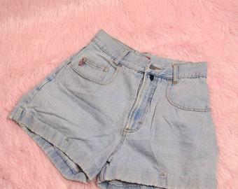 High Waisted Light Blue Shorts