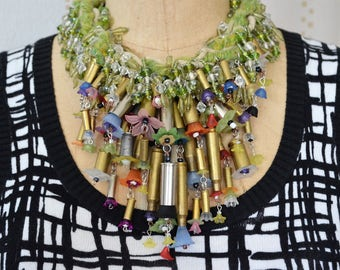Jewelry sale, Dramatic necklace, Avant garde necklace, Over the top necklace, Gorgeous necklace, Artsy necklace, Wearable art, High Fashion