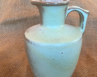 Vintage Frankoma prairie green honey pitcher