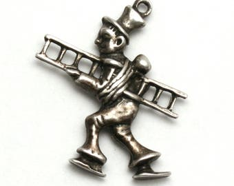 German Chimney Sweep Bracelet Charm Vintage 835 Silver Good Luck Charm