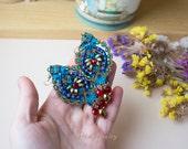 RESERVED for Chris - Macrame earrings, beaded earrings, beadwoven, beadwork, micro-macrame jewelry, statement, blue sea green red gold