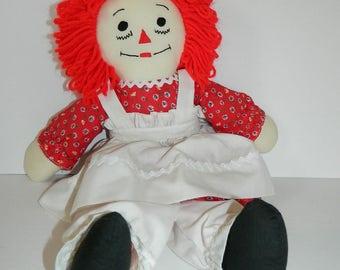 Retro 1970s Raggedy Ann Doll Made in Canada