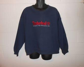 Vintage 90s Timberland Weathergear Hampton New Hampshire Crewneck Sweatshirt