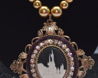 Castle Pendant Bead Necklace