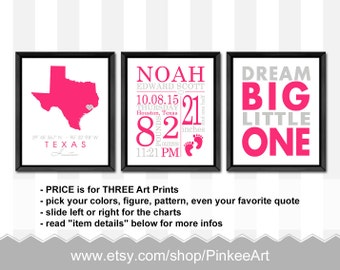 baby girl birth announcement, baby girl nursery wall art, birth stats, personalized baby girl decor, baby signs, birth print, baby girl room