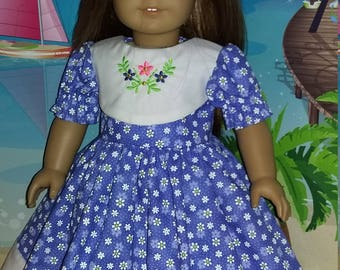 """Embroidered dress made for 18"""" or 14.5"""" dolls"""