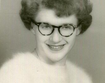 Vintage Photo..Love, Katie, 1950's Original Found Photo, Vernacular Photography