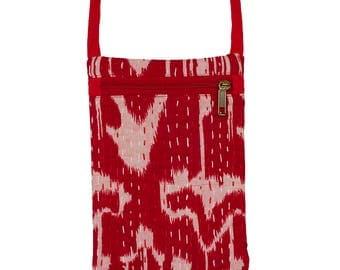 IKAT Passport Bag - Red
