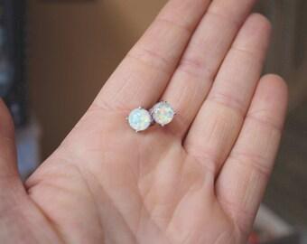 Opal Earrings, Fire Opal Earrings, White Fire Opal, Opal Jewelery, Opal
