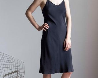 Betsey Johnson Minimalist Bias Cut Slip Dress 1990s Vintage // Size Small Medium