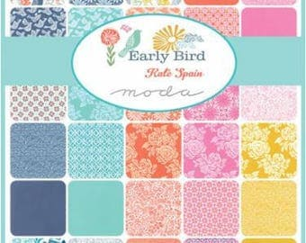 KATE SPAIN Early Bird Collection Fat Quarter Bundle ( 33FQ) For Moda Fabric