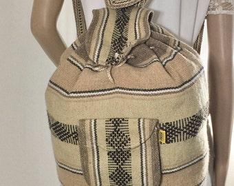 Baja Backpack, Tan, Mexican Backpack, Falsa,Earth tones,backpack bag