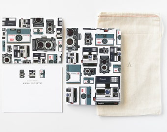 Personalized Stationery Set | Illustrated Camera Stationery Gift Set with Custom Flat Cards, Journal, and Notecards : Photographer