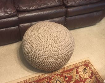 Crochet Pouf Pre-Stuffed 35 color options Made to Order