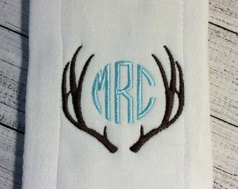 Antlers Monogram Frame Custom Monogram Embroidery Design 4x4
