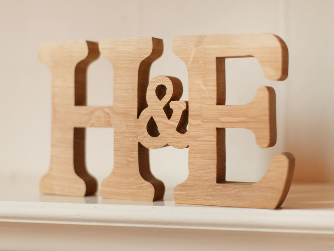 Wooden Letters Monogram Initials Personalised Word Letter