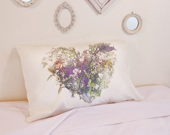blooming pillowcase, cushions, pillow, decorations flowers, pillow covers, home decor bedding, heart