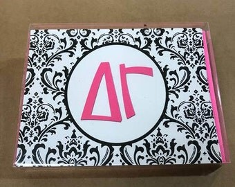 Delta Gamma Damask Notecards