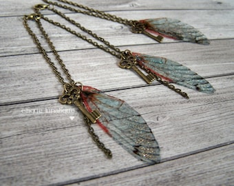 Necklace wings of fairy/Dragonfly for dolls BJD (MSD, SD)