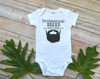 Beard Daddy, Beard Puller, Funny Baby Gift, Beard Shirt, Funny Baby shirt, Cute Baby Clothes, Beard shirt, Nephew Gift funny, Beard Gift