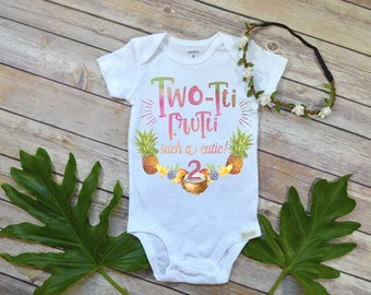 Second Birthday Shirt, Tutti Frutti theme, Girl Birthday Shirt, Tropical Birthday, 2nd Birthday, Girl Birthday shirt, Second Birthday Party
